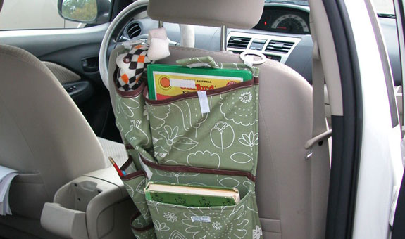 DIY nifty car organiser. Photo: joonatan15 | Source: Instructables
