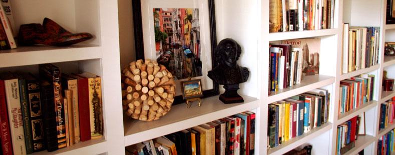 organised bookshelf