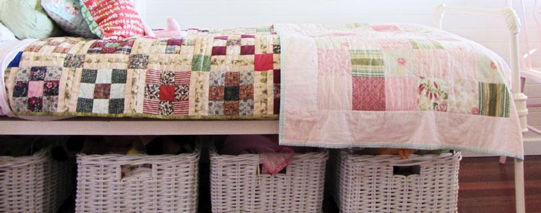 Storage under the bed. Photo source: Thom Haus Handmade