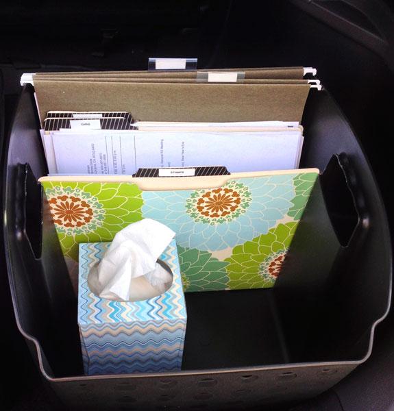 Car organiser. Photo: Amazon | Source: Domestic Mommyhood