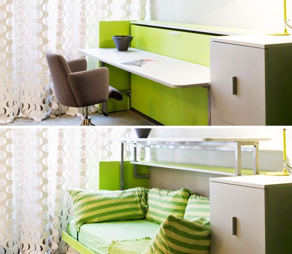 desk converts to guest bed